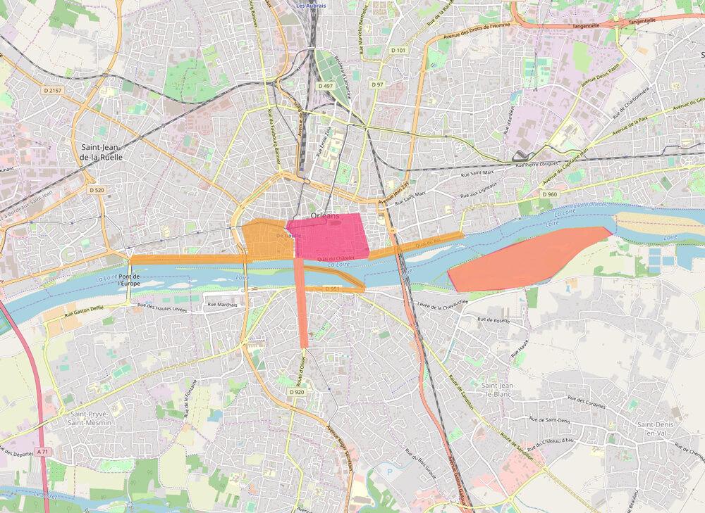 Zones touristiques à Orléans