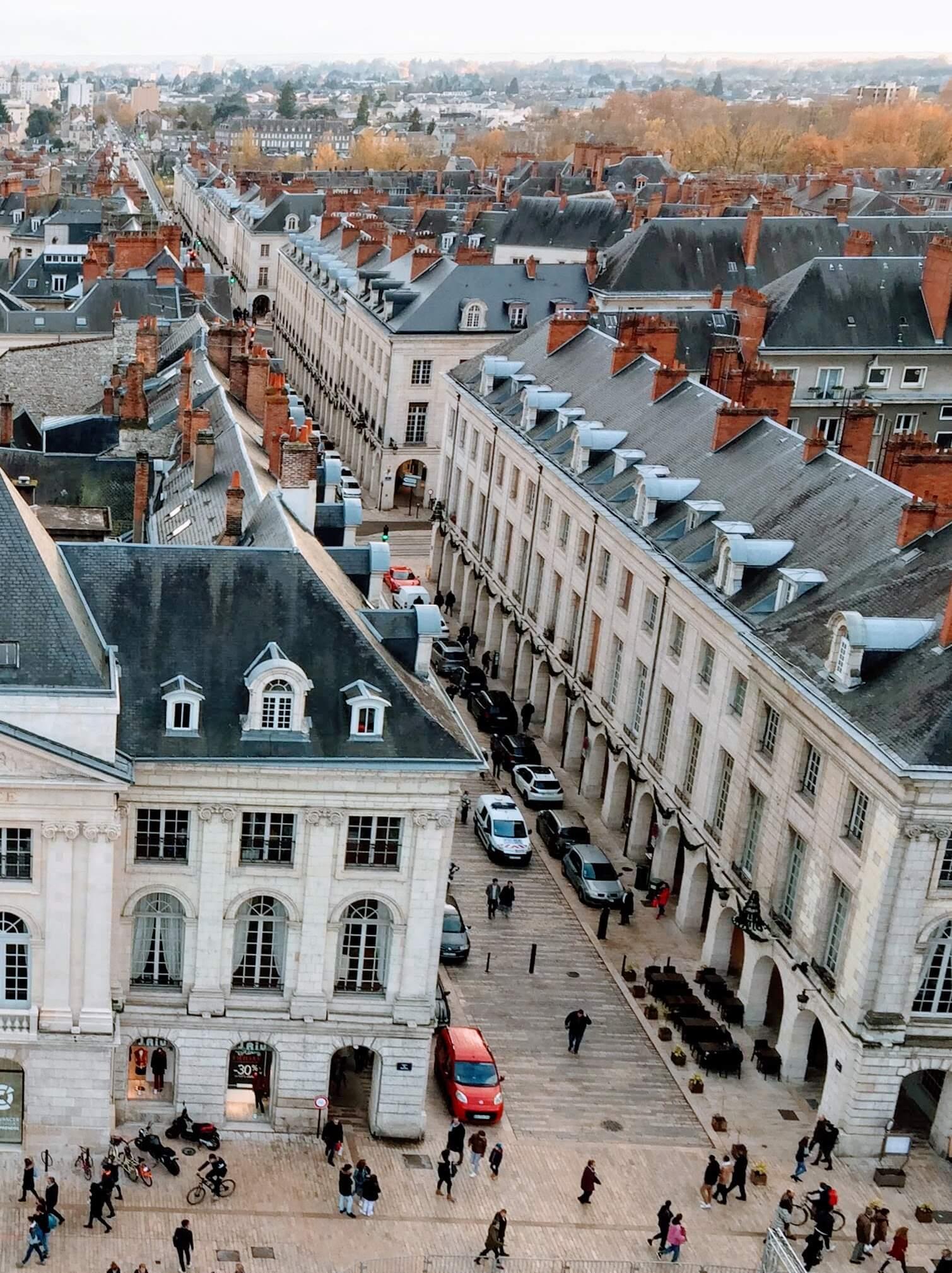 Vue aérienne de la rue Royale